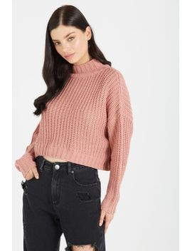 luna-chopped-mock-neck-pullover by cotton-on