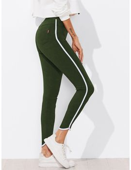 contrast-trim-skinny-ankle-jeggings by romwe