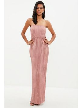 pink-crinkle-maxi-dress by missguided