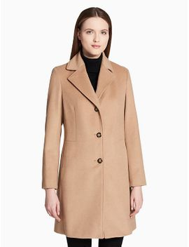 wool-cashmere-blend-overcoat by calvin-klein