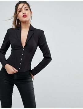 asos-corseted-luxe-blazer-with-boning by asos-collection