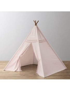 pom-pom-canvas-teepee---petal by restoration-hardware-baby-and-child