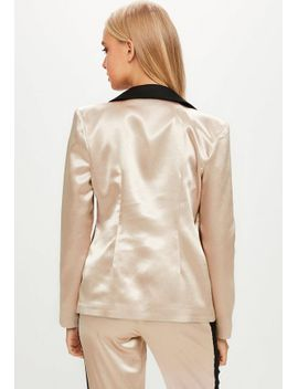 gold-satin-tailored-button-blazer by missguided