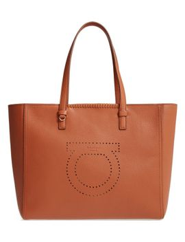 large-grained-leather-tote by salvatore-ferragamo