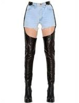 vintage-denim-shorts-&-leather-chaps by kaimin