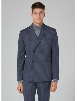 blue-pinstripe-double-breasted-suit-jacket by topman