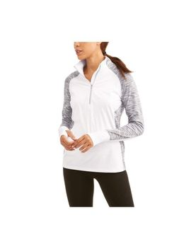 womens-core-active-performance-quarter-zip-with-thumbholes-and-reflective-detail by athletic-works