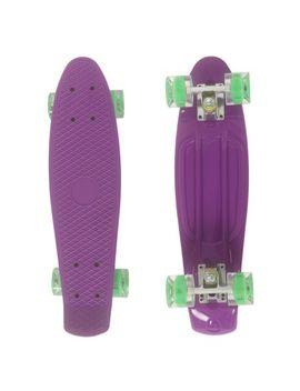 "22""-cruiser-skateboard-complete-plastic-70s-retro-skate-board-with-led-flashing-light-up-wheels-for-boys-girls by walmart"