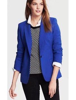 banana-republic-womens-blazer-size-4-black-wool-blend-2-button-2-pocket by ebay-seller