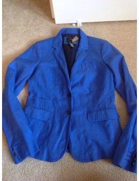 euc-jcrew-schoolboy-blazer-in-herringbone-blue-sz-4-4t-tall-38985 by ebay-seller
