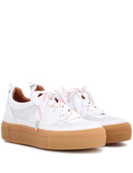 corinne-leather-platform-sneakers by ganni