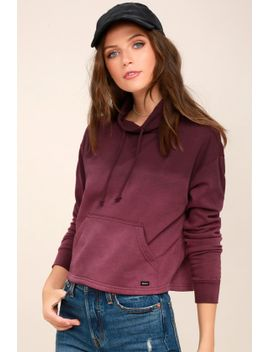smudged-plum-purple-ombre-cropped-mock-neck-sweatshirt by rvca