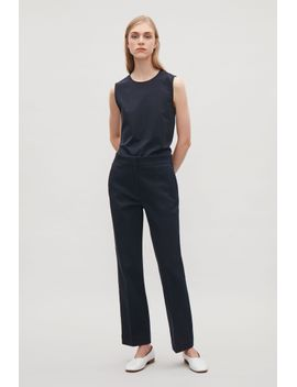 topstitched-twill-trousers by cos