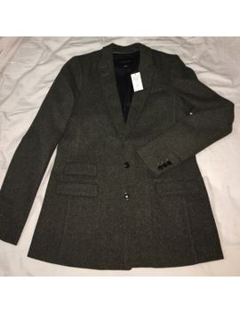 dark-green-tweed-blazer---banana-republic   nwt by banana-republic