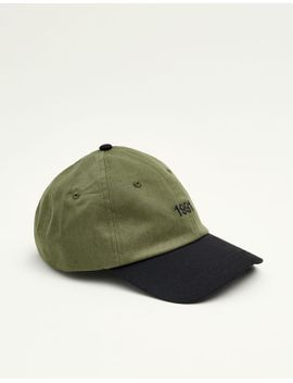 embroidered-'1991'-cap by pull-&-bear