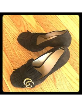gucci-marmont-brown-suede-pumps by poshmark