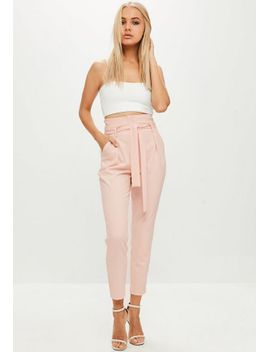 pink-high-waisted-cigarette-pants by missguided