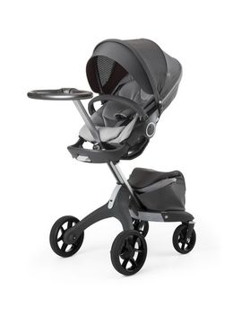 limited-edition-athleisure-xplory®-true-grey-chassis-stroller by stokke