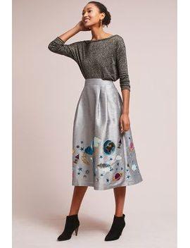 galaxy-embroidered-skirt by manish-arora