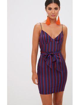 navy-contrast-stripe-bodycon-dress by prettylittlething