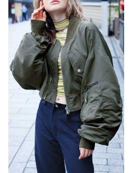lantern-sleeve-bomber-jacket by liangss