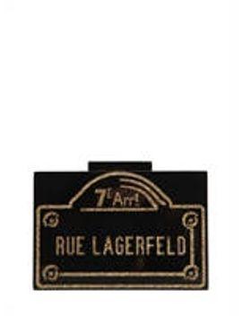 rue-lagerfeld-pvc-box-clutch by karl-lagerfeld