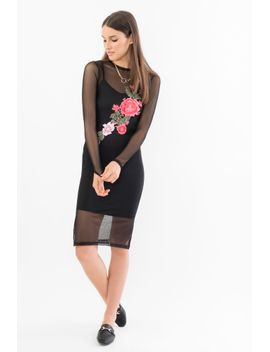 mesh-with-appliqué-sheath-dressmesh-with-appliqué-sheath-dress by suzy-shier