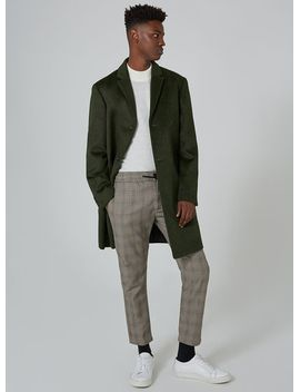 khaki-overcoat-containing-wool by topman