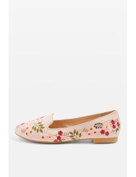 sugar-embroidered-slip-on-flat-shoes by topshop