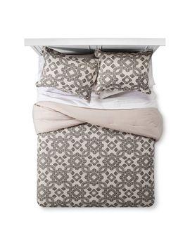 brown-&-white-natural-global-medallion-comforter-set---threshold by threshold