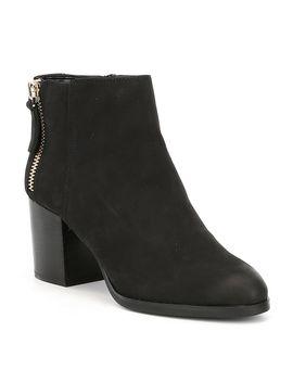 kelli-nubuck-leather-stacked-block-heel-booties by generic