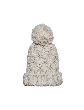 Crochet Knit Beanie With Cuff And Pom by San Diego Hat