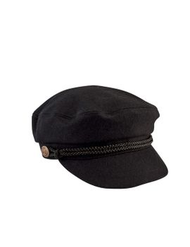 Women's Cabble With Braid Trim And Metal Buckle by San Diego Hat