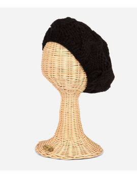 Womens Cable Knit Beret by San Diego Hat