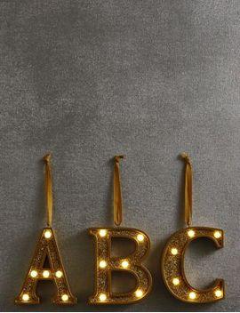 a-z-light-up-led-gold-alphabet-baubles by marks-&-spencer