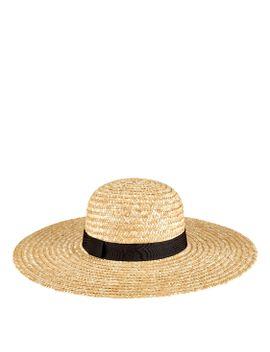 Womens Round Crown Wheat Straw Sunbrim by San Diego Hat