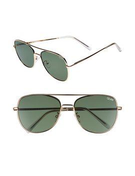 running-riot-58mm-aviator-sunglasses by quay-australia