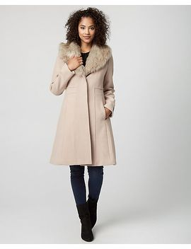 wool-blend-coat-with-faux-fur-collar by le-chateau
