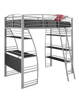 sandy-loft-bed-with-integrated-desk-and-shelves-twin-silver---room-&-joy by room-&-joy