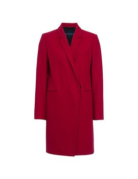 french-connection-platform-felt-long-sleeve-coat,-red-sky by french-connection