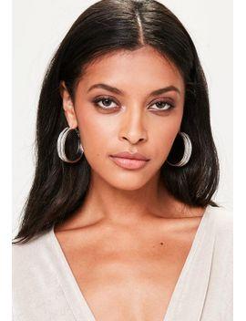 silver-glitter-hoop-earrings by missguided