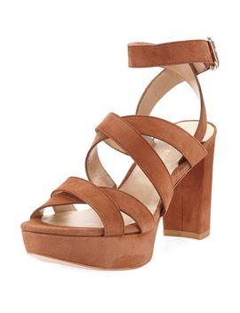 chorusline-high-platform-sandal,-saddle by stuart-weitzman