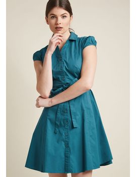 smoothie-enthusiast-a-line-shirt-dress-in-blue-raspberry by modcloth