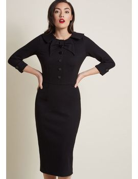 evocative-aesthetic-sheath-dress-in-black by modcloth