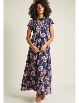 short-sleeve-maxi-dress-with-collar by modcloth