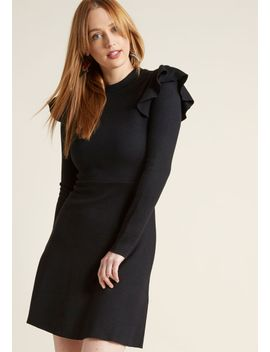 empowering-accent-long-sleeve-dress by modcloth