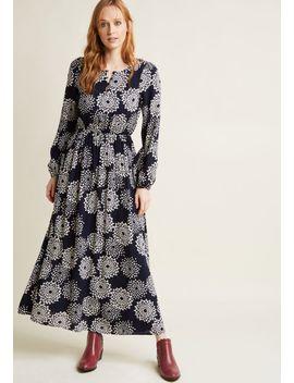 dahlia-printed-long-sleeve-maxi-dress by modcloth