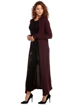 final-sale--burgundy-cozy-cable-knit-duster by windsor
