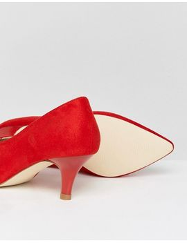 raid-ayla-red-kitten-heeled-shoes by raid