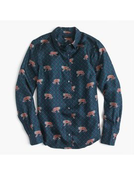 petite-silk-twill-button-up-in-tiger-print by jcrew